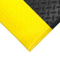 Černo-žlutá protiskluzová protiúnavová průmyslová pěnová rohož - 0,9 cm
