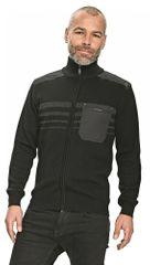 Otto Schachner Pánsky sveter na zips Roslev čierna XS