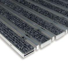 FLOMA Textilní hliníková kartáčová vnitřní vstupní rohož Alu Low Extra, FLOMA - 1 cm