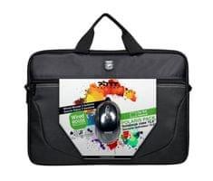 Port Designs POLARIS BUNDLE Toploading brašna na 15,6'' notebook + USB MOUSE, černá 501730