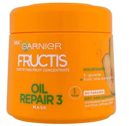 Garnier maska za suhe in poškodovane lase Fructis Oil Repair 3, 300 ml
