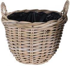 Koopman Kvetináč košík KUBU, 35 x 25 cm