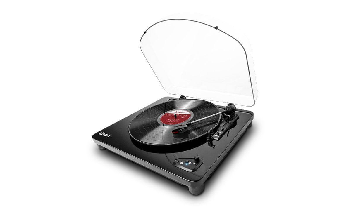 Gramofon iON Air LP Bluetooth připojení kryt proti prachu