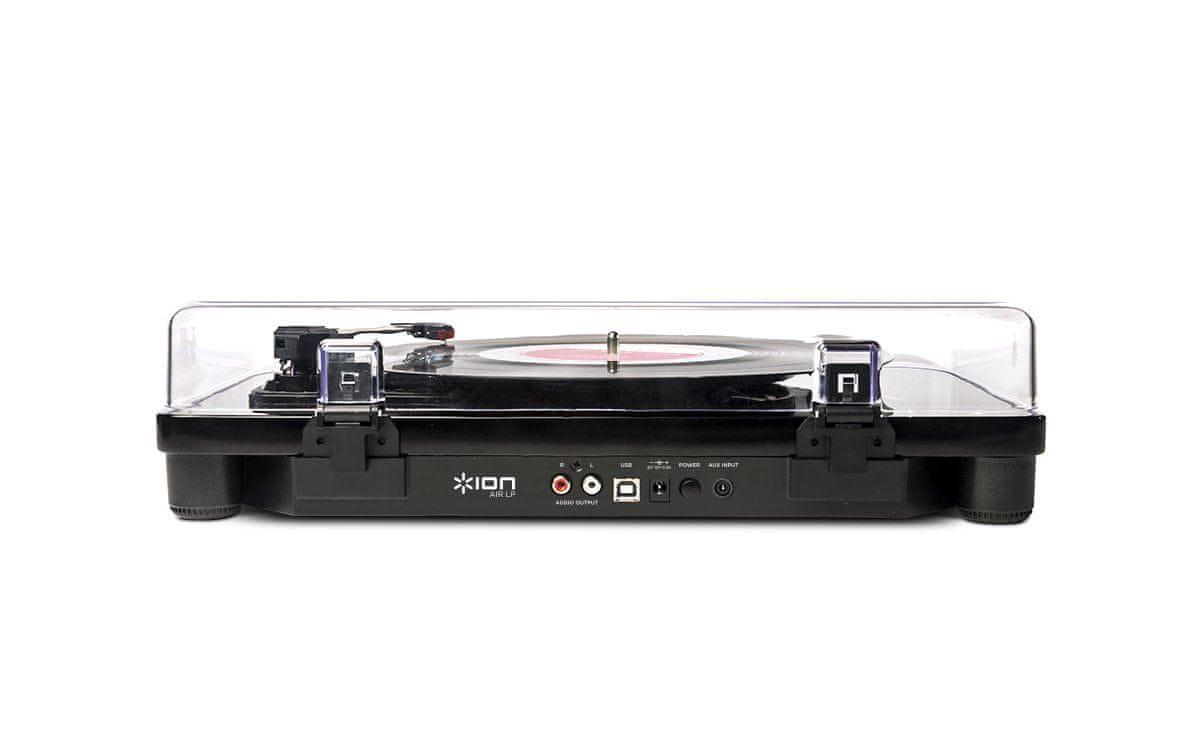 Gramofon ION Air LP usb vstup digitalizace externí reproduktory