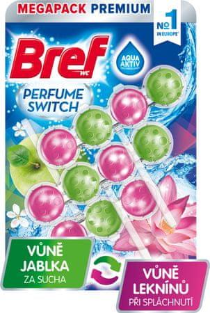 Bref Wc obešanka Perfume Switch Apple & Water Lily 3x 50g