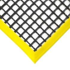 Černá olejivzdorná protiskluzová průmyslová univerzální rohož (mřížka 22 x 22 mm) - 1,2 cm