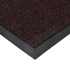 FLOMAT Červená plastová zátěžová čistící venkovní vnitřní vstupní rohož Rita, FLOMAT - 1 cm