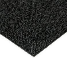 FLOMAT Černá plastová zátěžová venkovní vnitřní vstupní čistící zóna Rita, FLOMAT - 1 cm