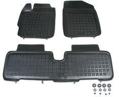REZAW-PLAST Gumové koberce, súprava 3 ks (2x predné, 1x spojený zadný), Toyota Urban Cruiser od r. 2009, Yaris II 2005-2011