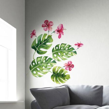 Crearreda dekorativna stenska nalepka Tropske rastline, XL