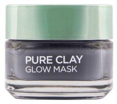 Loreal Paris maska za lice Pure Clay Glow, učinak sjajnog tena, 50 ml