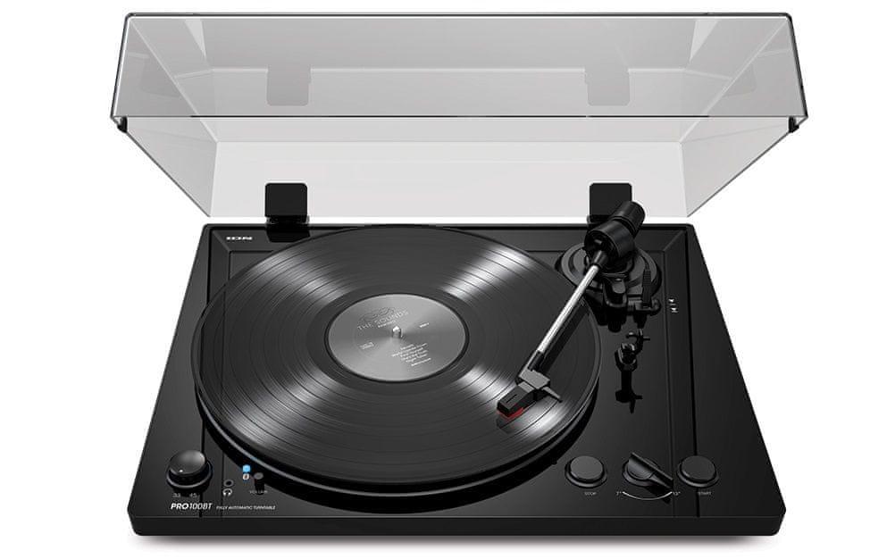 Gramofon ION Pro100BT sluchátkový výstup 3,5mm jack