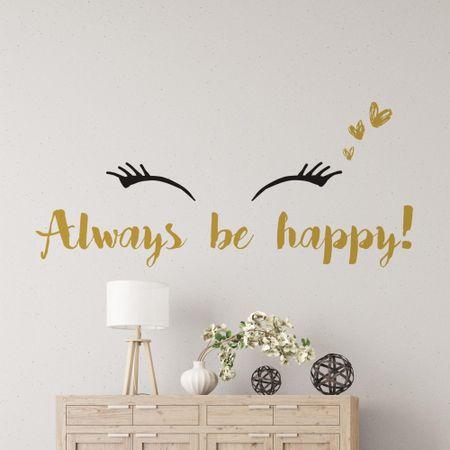 Crearreda dekorativna stenska nalepka Always be happy, L deluxe