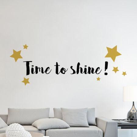 Crearreda dekorativna stenska nalepka Time to Shine, L deluxe