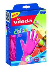 Vileda rokavice MultiSensitive Colors, S/M, 50/1, roza