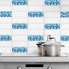 Crearreda dekorativna nalepka za ploščice, svetlo modra 2/4