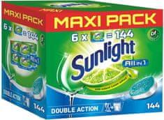 Sunlight All in 1 Tablety do myčky nádobí 144 ks