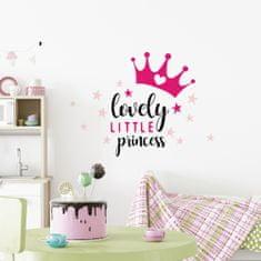 Crearreda stenska dekorativna nalepka napis Lovely Princess, M