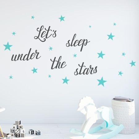 Crearreda stenska dekorativna nalepka napis Let's Sleep, L