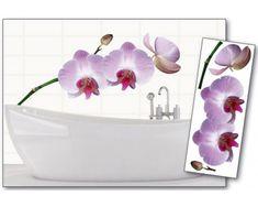Dimex Dekoračné nálepky na stenu Orchidea fialová - 65 x 165 cm