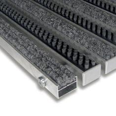 FLOMA Textilní hliníková kartáčová vnitřní vstupní rohož Alu Extra, FLOMA - 2,2 cm