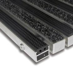 FLOMA Textilní gumová hliníková vnitřní vstupní rohož Alu Standard, FLOMA - 2,7 cm