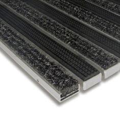 FLOMA Textilní gumová hliníková vnitřní vstupní rohož Alu Standard, FLOMA - 1,7 cm