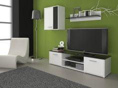 Obývací stěna LAWSON 1, černá/bílá