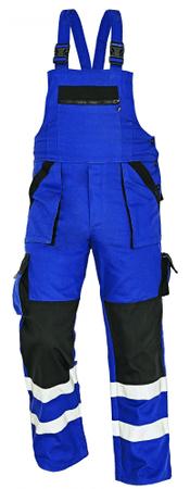 Max Montérky na traky s reflexnými pruhmi modrá/čierna 50