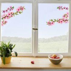 Crearreda dekorativna nalepka za okno, breskove veje