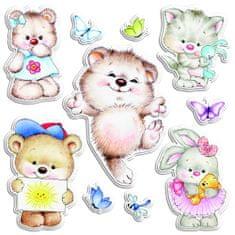 Crearreda stenska dekorativna nalepka Tender Animals, L