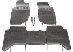 REZAW-PLAST Gumové koberce, súprava 3 ks (2x predné, 1x spojený zadný), Toyota Hilux VII 2005-2015 (4 dv.)