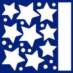 Crearreda stenska dekorativna svetleča nalepka Viseče zvezdice, M, 2 lista