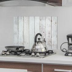 Crearreda kuhinjska zaščitna dekoracija Beli les, 47 x 65 cm