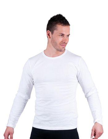 Cerva Bavlnené tričko s dlhým rukávom Cambon biela S