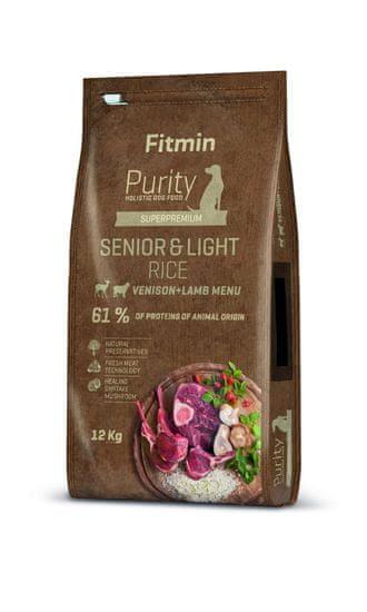 Fitmin Dog Purity Rice Senior & Light Venison & Lamb 12 kg