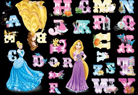 Graham & Brown stenska dekorativna nalepka, Princess abeceda