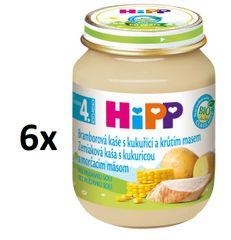 HiPP BIO Zemiaky a kukurica s morčacím mäsom - 6 x 125g