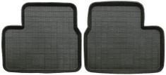 POLGUM Gumové koberce, univerzálne, 2 ks zadné, čierne, rozmery: 40 x 49,5 cm