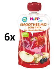 HiPP BIO Smoothie Jablko-Banán-Červené ovocie 6 x 120 ml