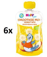 HiPP BIO Smoothie Jablko-Banán-Broskev 6 x 120 ml