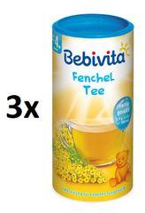 Bebivita Fenyklový čaj - instantní, 3×200g