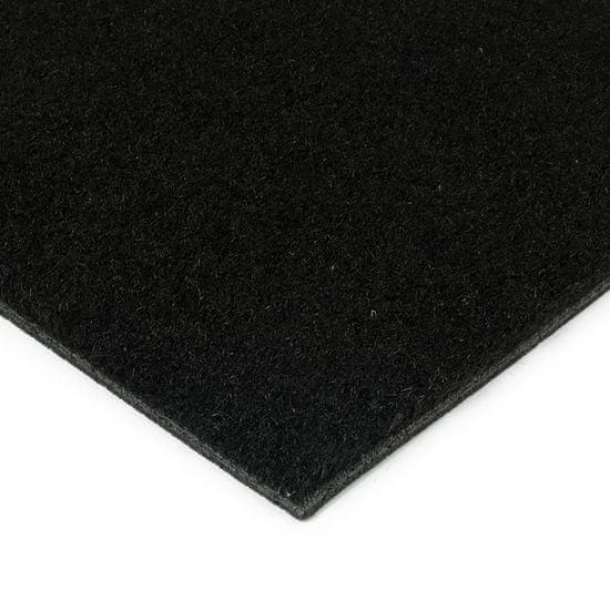 FLOMA Černá kokosová zátěžová vstupní čistící zóna Synthetic Coco - 200 x 200 x 1 cm