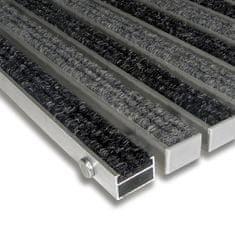 FLOMAT Textilní hliníková vnitřní vstupní rohož Alu Standard, FLOMAT - 2,2 cm
