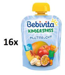 Bebivita Ovocná kapsička, Ovocný mix - 4×4×90g