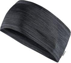 Craft naglavni trak Melange Jersey Black, črn