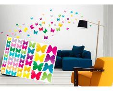 Dimex Dekoračné nálepky na stenu Motýle - 50 x 70 cm