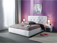 BRANSON postel 180x200, bílá ekokůže
