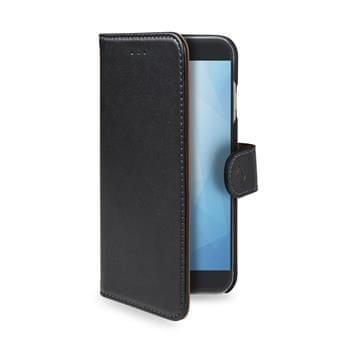CELLY CELLY Wally könyv típusú telefontok Huawei Y5 - re (2018), PU bőr, fekete WALLY763