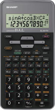 Sharp tehnični kalkulator EL531THBPK, črno-siv